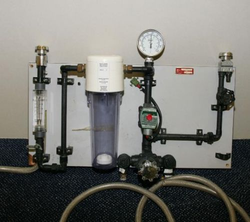 Valve mixing unit including gauge